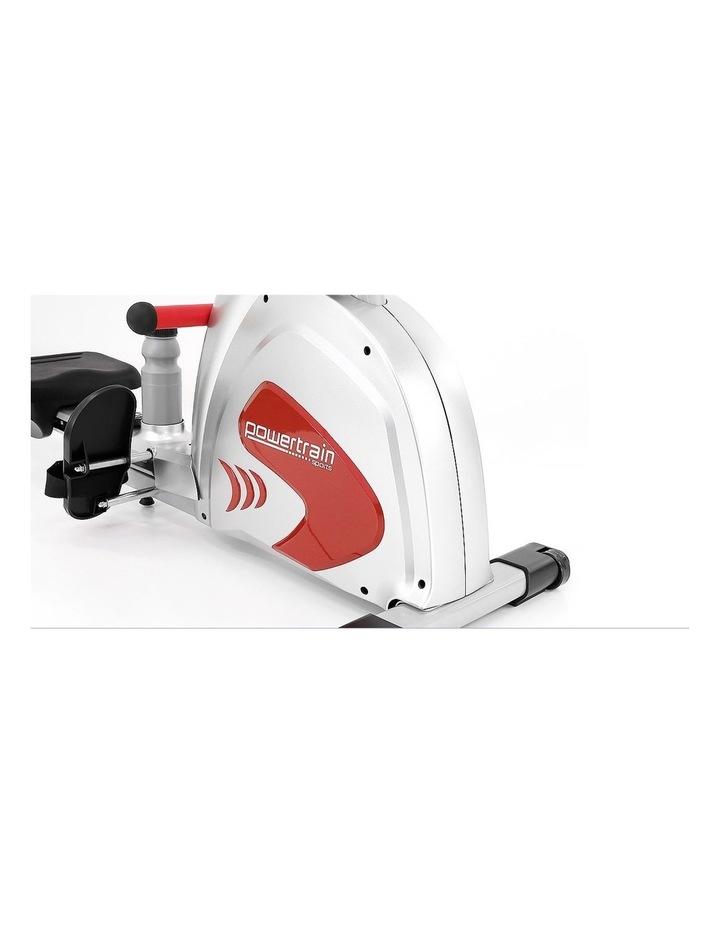 Powertrain Magnetic Flywheel Rowing Machine Home Gym Rower Silver image 4
