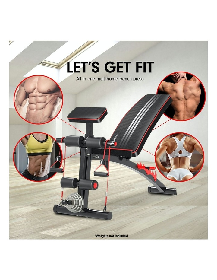 Powertrain Adjustable Home Gym Bench Press Situp Abs Exercise Incline Weight Decline image 2