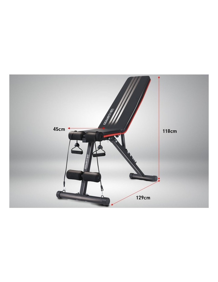Home Gym Bench Powertrain Adjustable Incline Decline FID image 6
