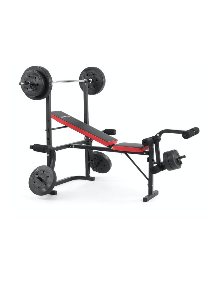 Home Gym Workout Bench Press with 67kg Weights image 1