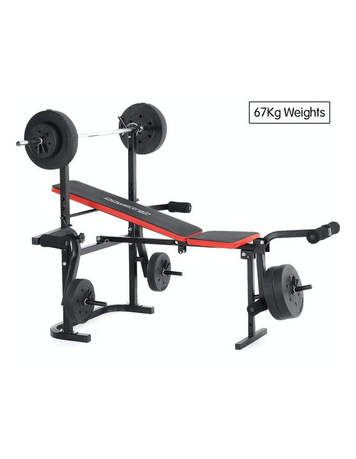 Home Gym Workout Bench Press with 67kg Weights image 2