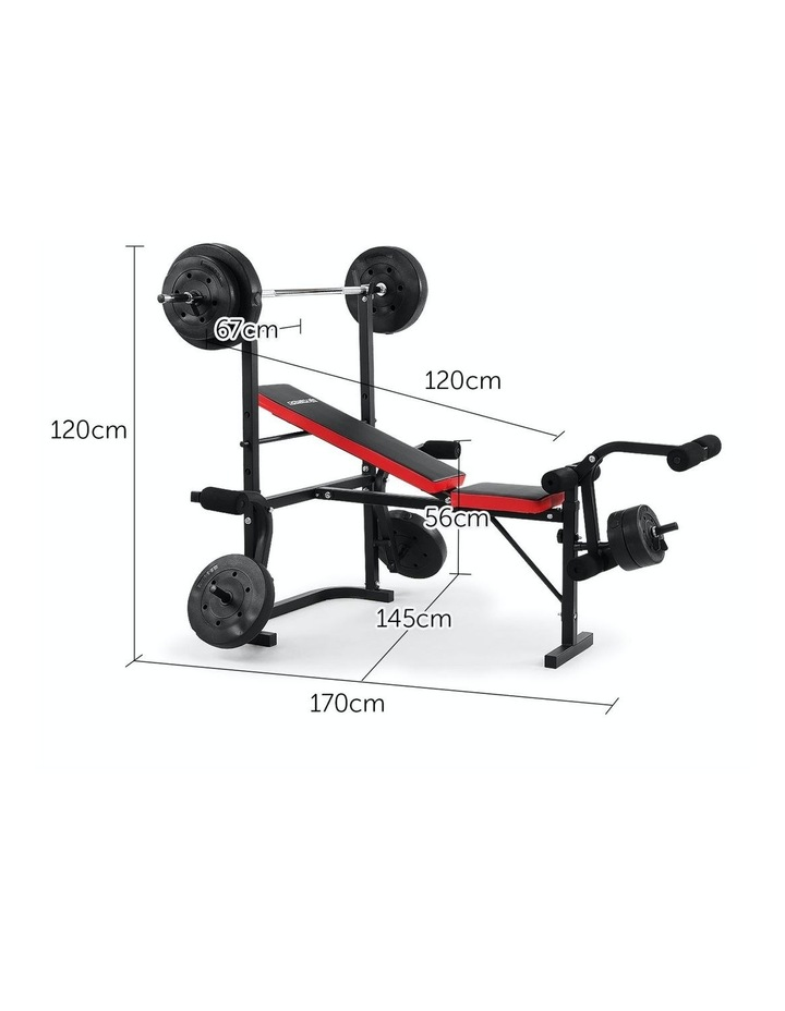 Home Gym Workout Bench Press with 67kg Weights image 5