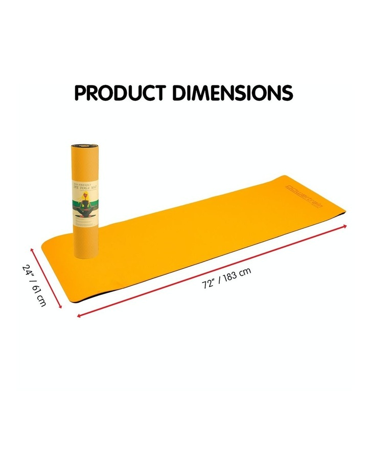 TPE Yoga Exercise Mat Eco Friendly Home Gym Pilates Floor Fitness 8mm Thick image 2