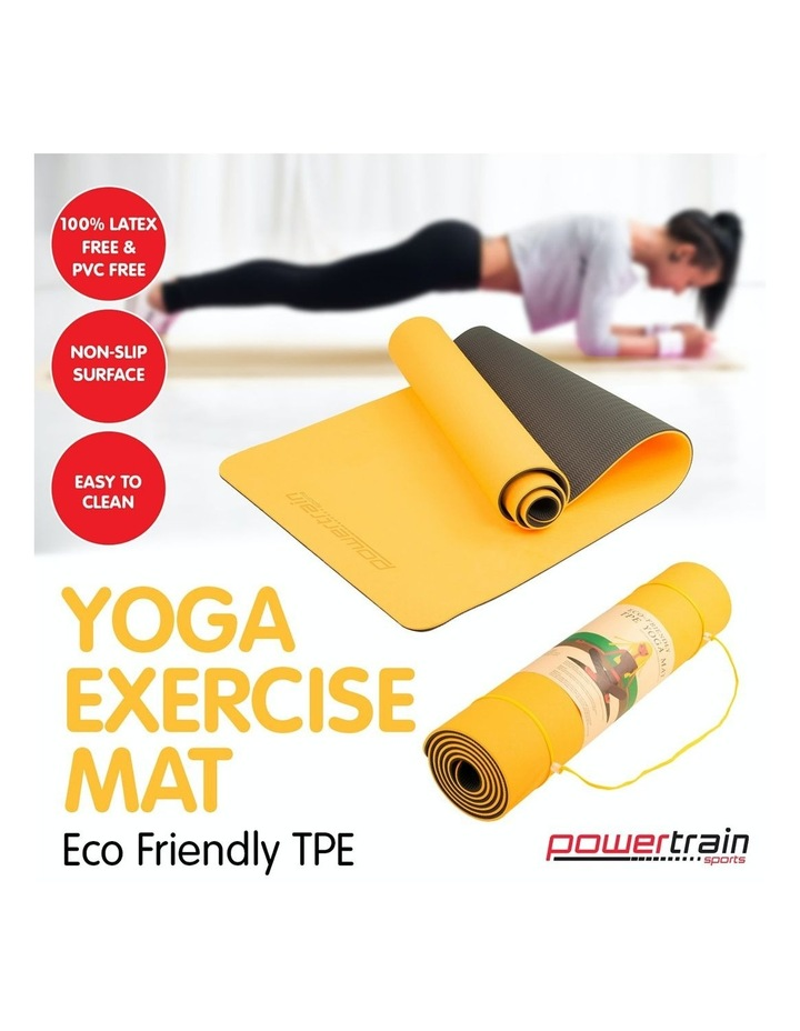 TPE Yoga Exercise Mat Eco Friendly Home Gym Pilates Floor Fitness 8mm Thick image 5
