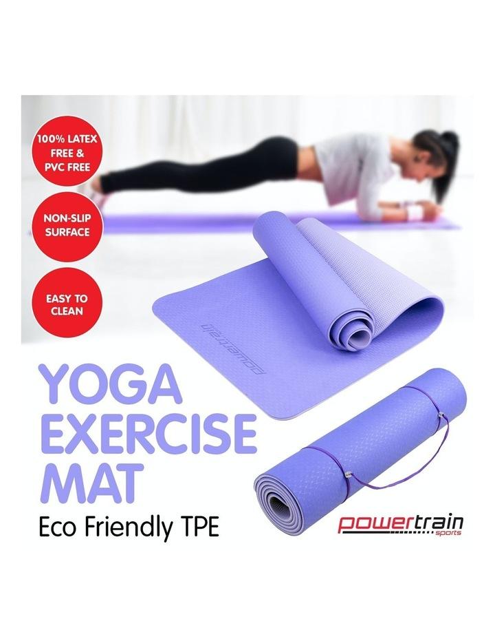 8mm Eco-Friendly Yoga & Pilates Green Exercise Mat image 2