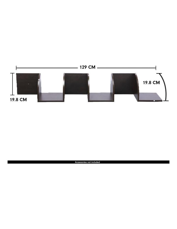 5-Tier Corner Wall Shelf Display Storage Shelves Dark Brown image 5
