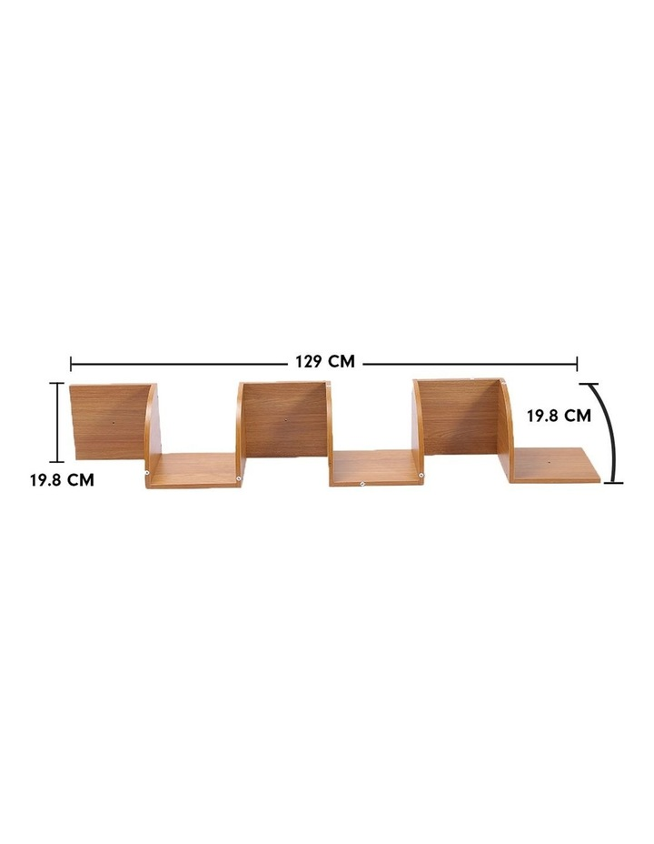 Corner Wall Shelf Display Storage Shelves - Beech image 5