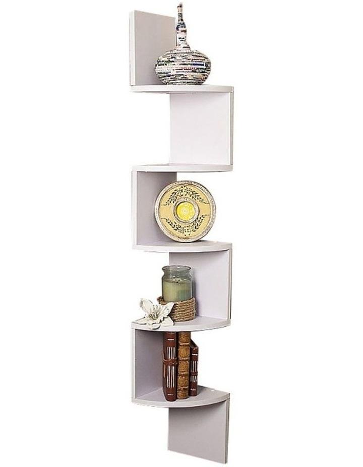 Corner Wall Shelf Display Shelves Book Storage Rack Floating Mounted image 1