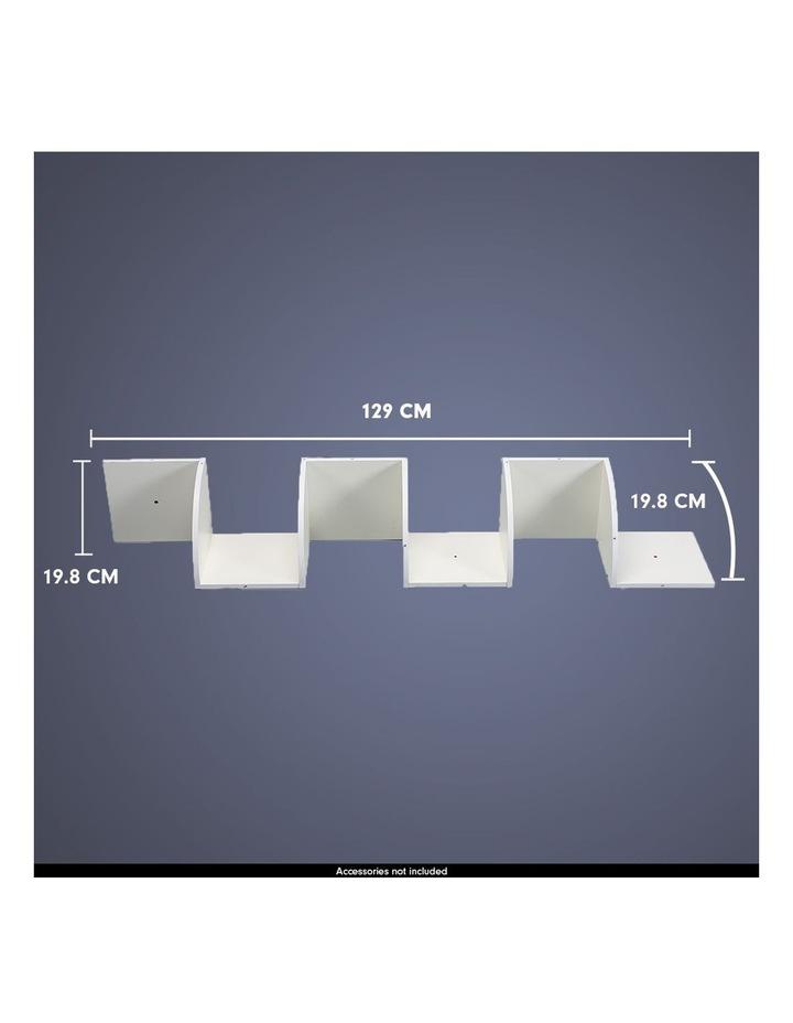 Corner Wall Shelf Display Shelves Book Storage Rack Floating Mounted image 5