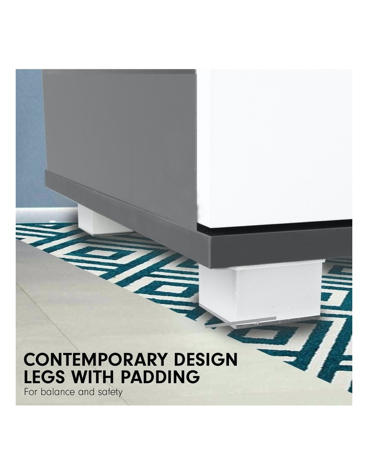 Bedside Table with Drawers MDF - Black White image 5