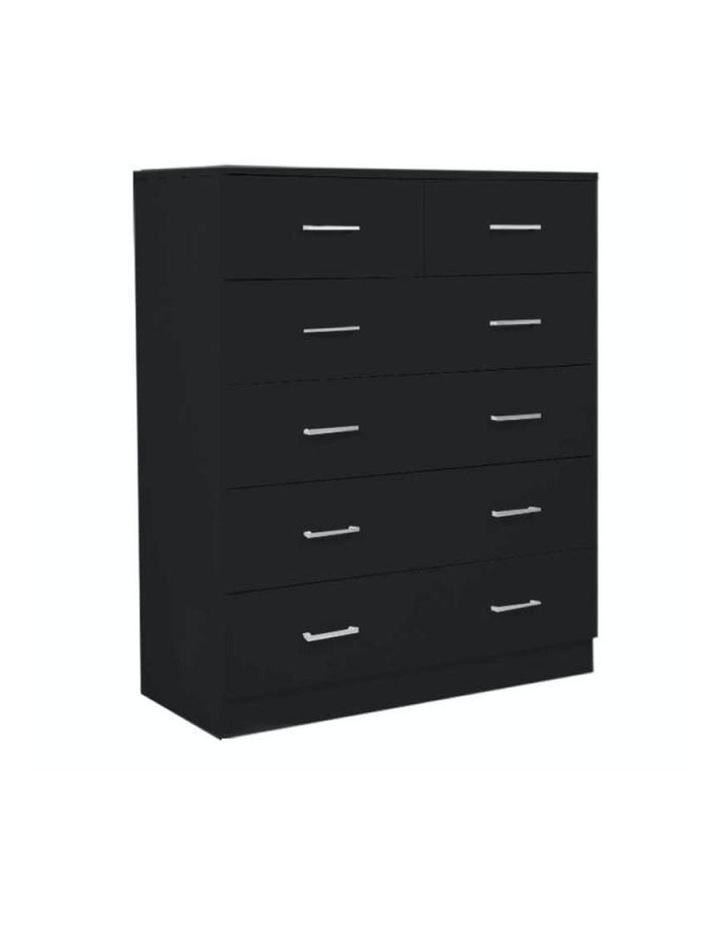 Tallboy Dresser 6 Chest of Drawers Cabinet 85 x 39.5 x 105 - Black image 1