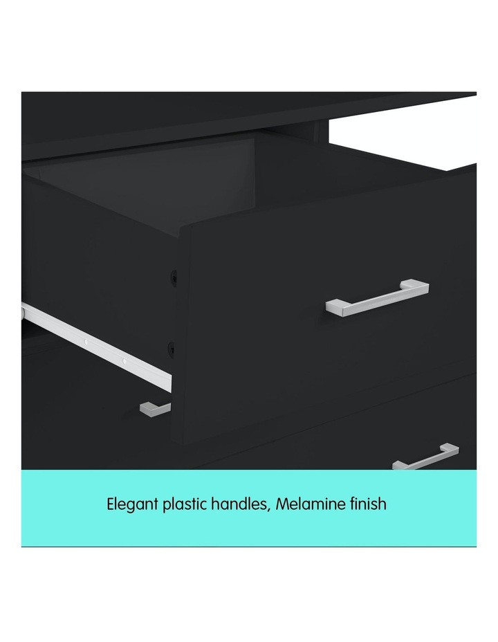 Tallboy Dresser 6 Chest of Drawers Cabinet 85 x 39.5 x 105 - Black image 5