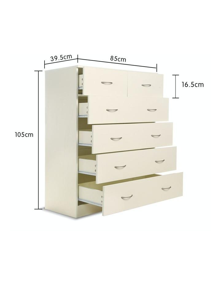 Tallboy Dresser 6 Chest of Drawers Storage Cabinet 85 x 39.5 x 105cm image 2