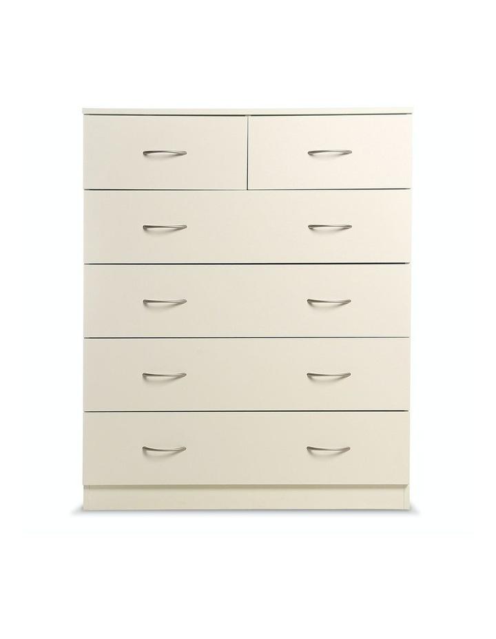Tallboy Dresser 6 Chest of Drawers Storage Cabinet 85 x 39.5 x 105cm image 4