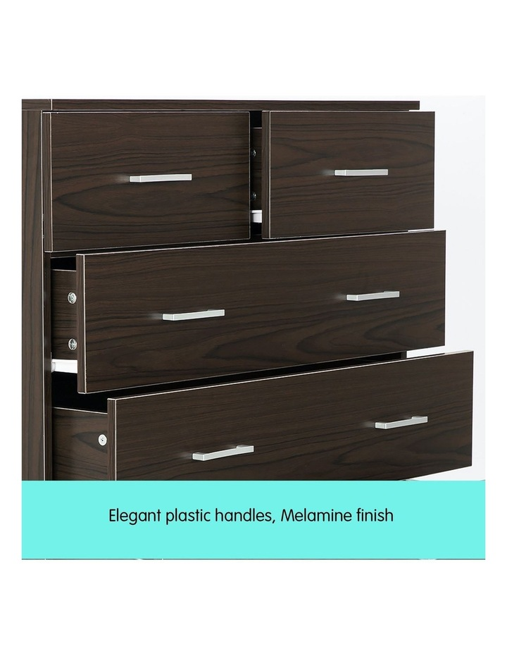 Tallboy Dresser 6 Chest of Drawers Cabinet 85 x 39.5 x 105 - Brown image 5