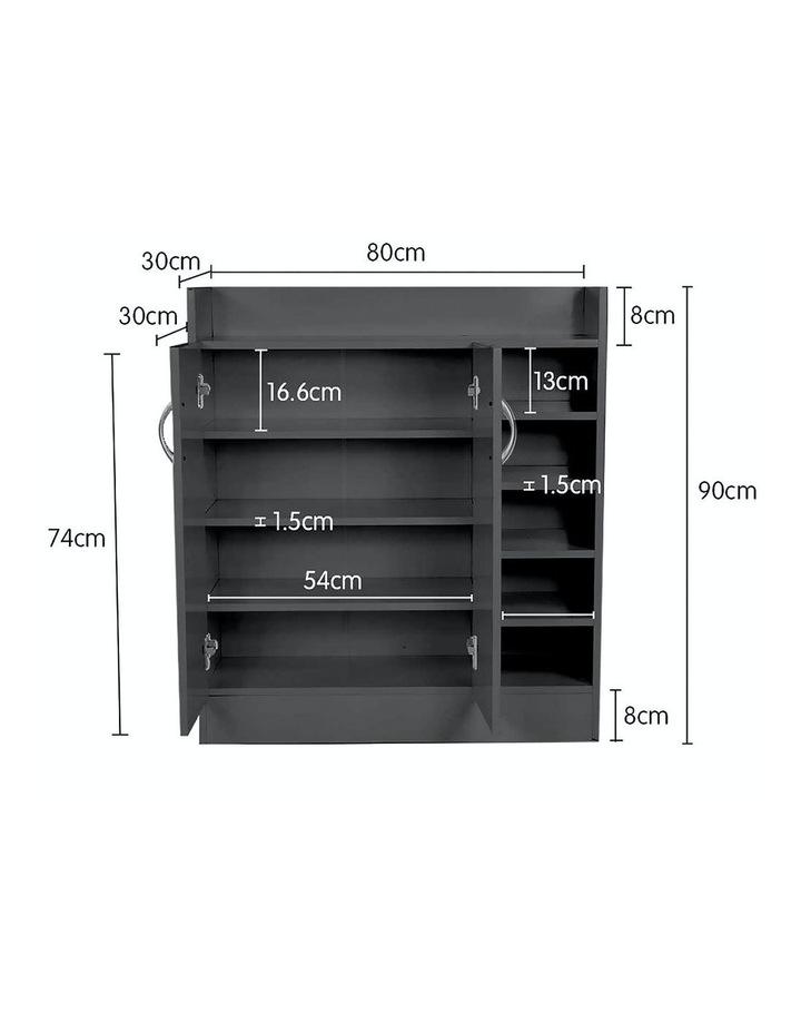 Shoe Cabinet Rack Storage Organiser - 80 x 30 x 90cm - Black image 6