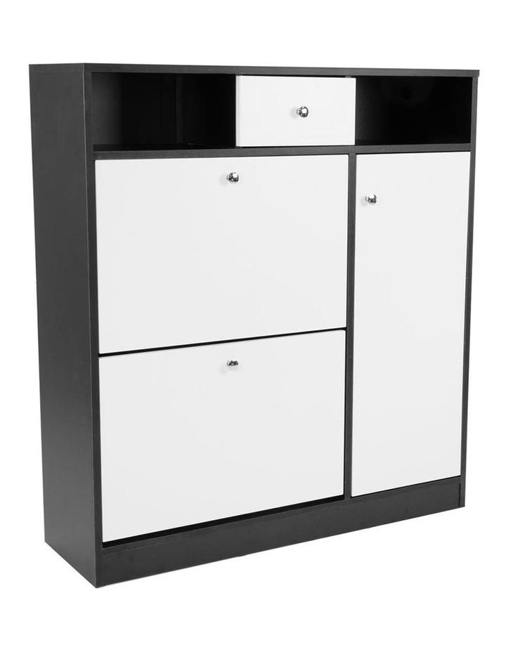 Sarantino Shoe Rack Cabinet Wooden Storage Organiser Shelf Cupboard Drawer image 1