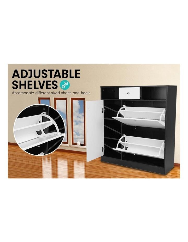 Sarantino Shoe Rack Cabinet Wooden Storage Organiser Shelf Cupboard Drawer image 2