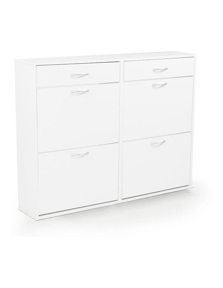 Shoe Cabinet Organizer Storage Rack 1200 x 240 x 920 - White image 1