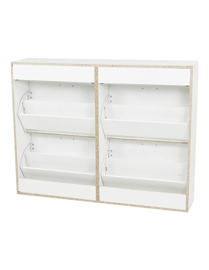 Shoe Cabinet Organizer Storage Rack 1200 x 240 x 920 - White image 2