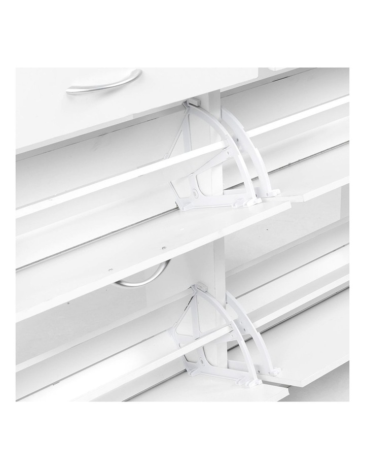 Shoe Cabinet Organizer Storage Rack 1200 x 240 x 920 - White image 3