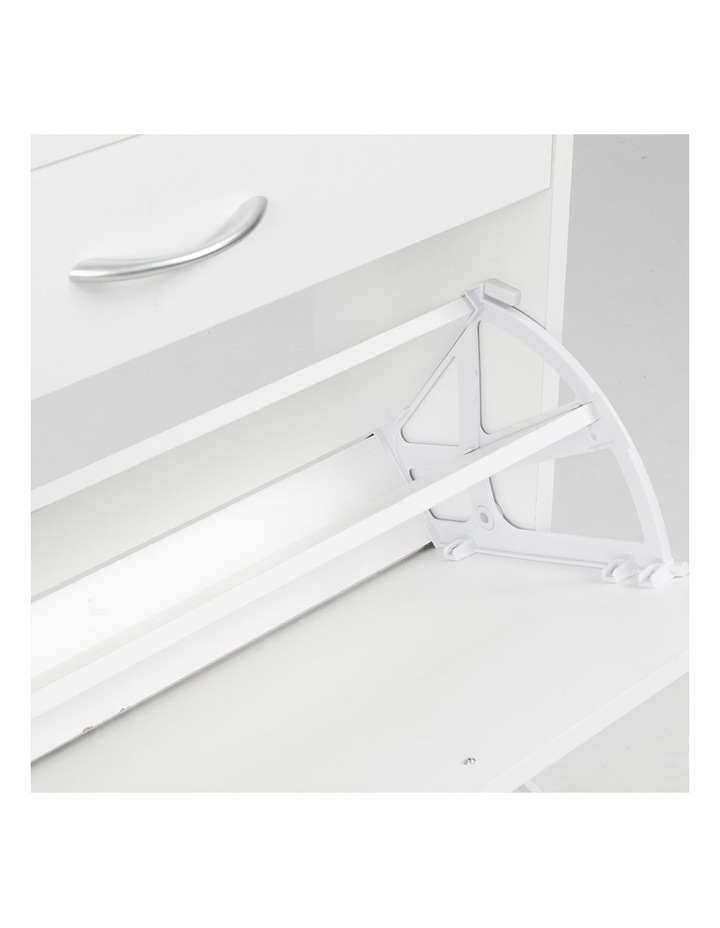 Shoe Cabinet Organizer Storage Rack 1200 x 240 x 920 - White image 5