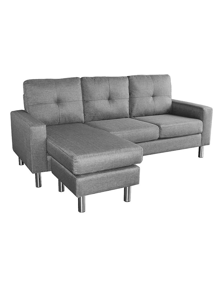 Adjustable Linen Corner Sofa Lounge Couch Furniture  Chair Chaise Grey image 1