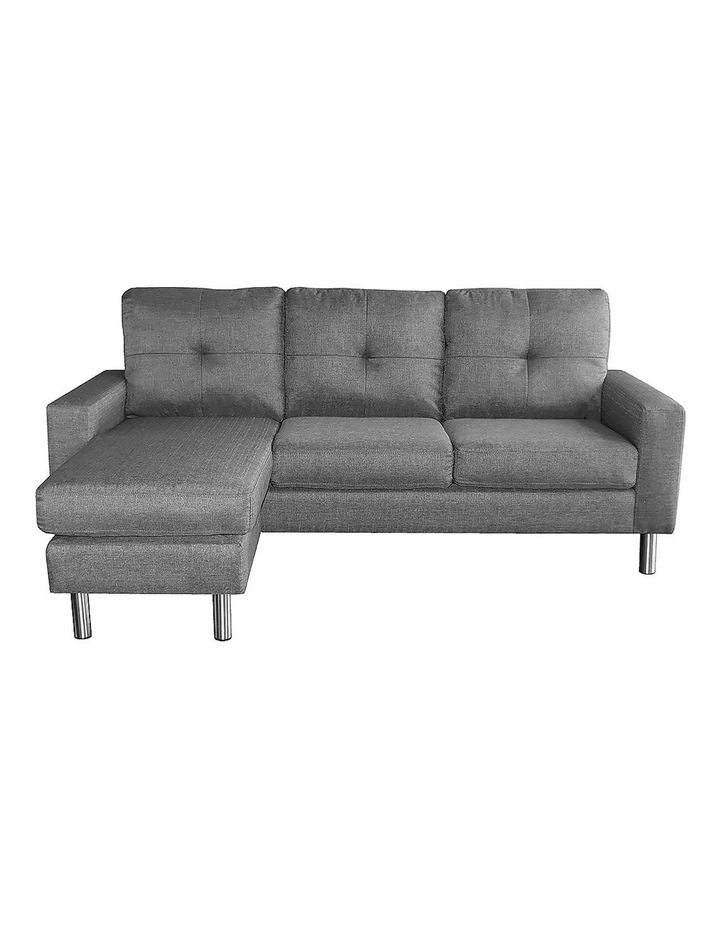 Adjustable Linen Corner Sofa Lounge Couch Furniture  Chair Chaise Grey image 5