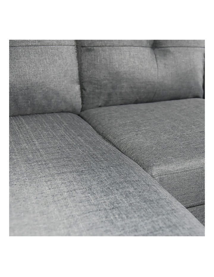 Linen Corner Sofa Couch Lounge Adjustable Chaise with Wooden Legs - Grey image 5