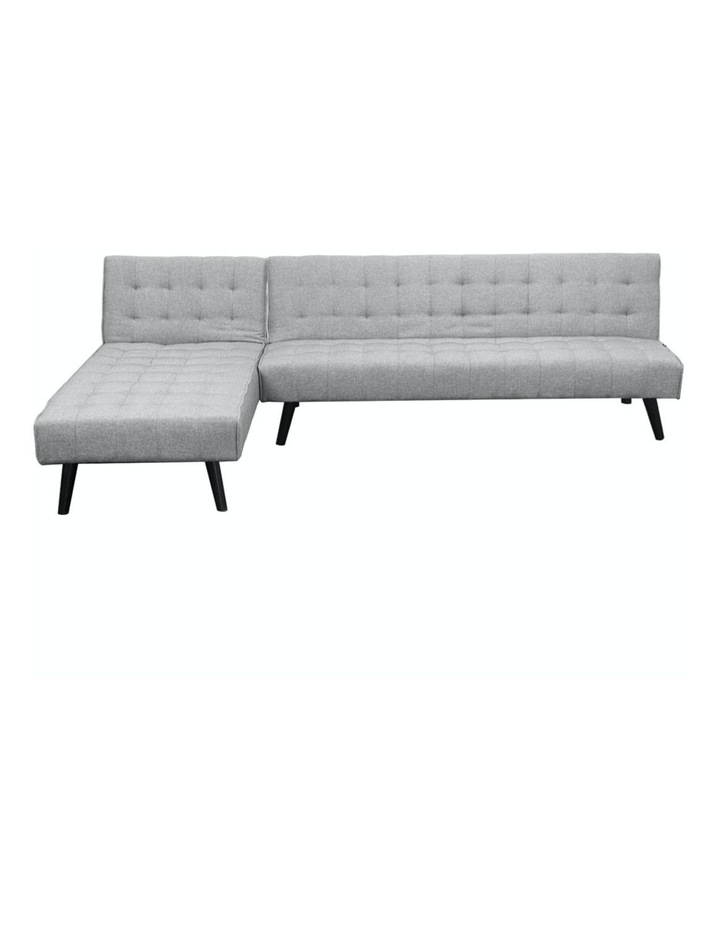 3-Seater Corner Sofa Bed Lounge Chaise Couch - Light Grey image 1