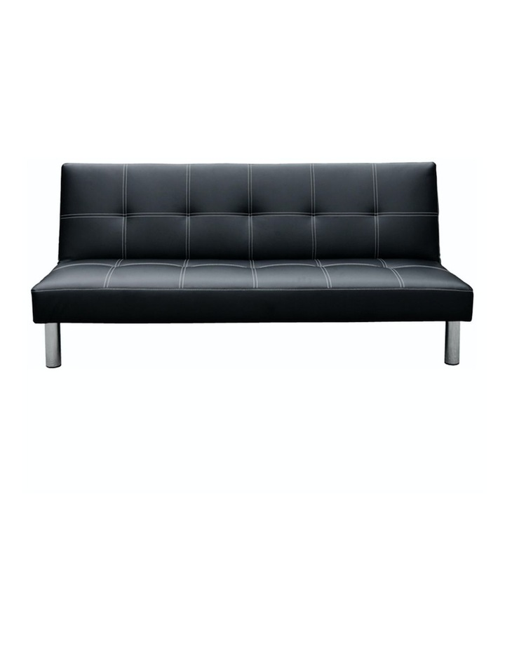 Sofa Bed Faux Leather Lounge Couch Futon Furniture Modular Suite image 1
