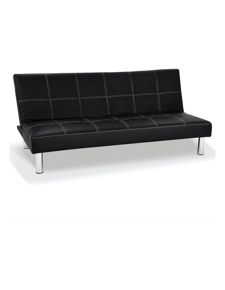 Sofa Bed Faux Leather Lounge Couch Futon Furniture Modular Suite image 2