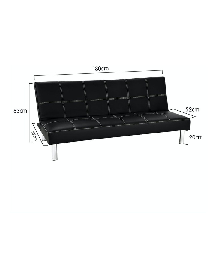Sofa Bed Faux Leather Lounge Couch Futon Furniture Modular Suite image 6