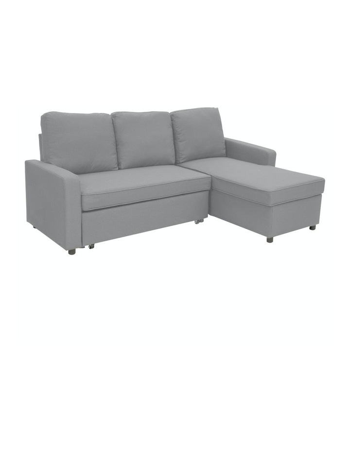 Sarantino 3-Seater Corner Sofa Bed With Storage Lounge Chaise Couch - Light Grey image 1