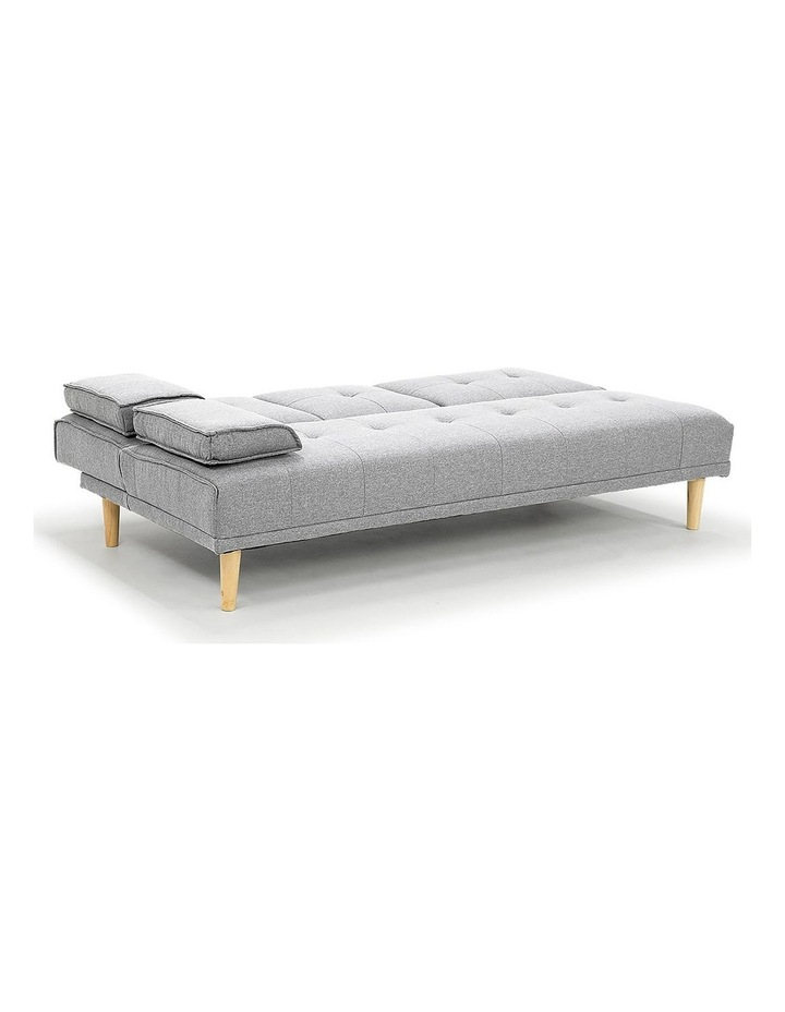 Sarantino Linen Fabric Sofa Bed Lounge Couch Futon Furniture Suite - Light Grey image 5