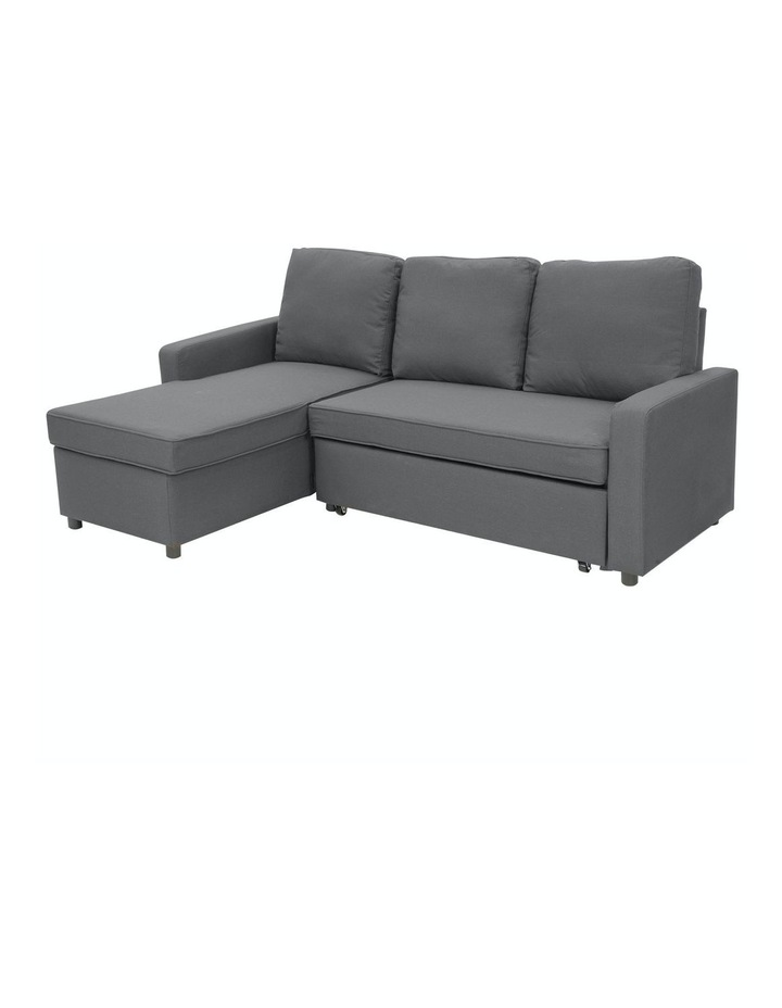 Sarantino 3-Seater Corner Sofa Bed Lounge Storage Chaise Couch Grey image 1