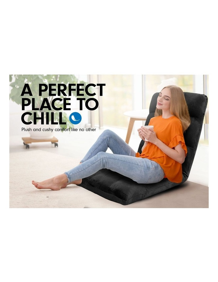 Laura Hill  Adjustable Cushioned Floor Gaming Lounge Chair 99 x 41 x 12cm - Black image 3