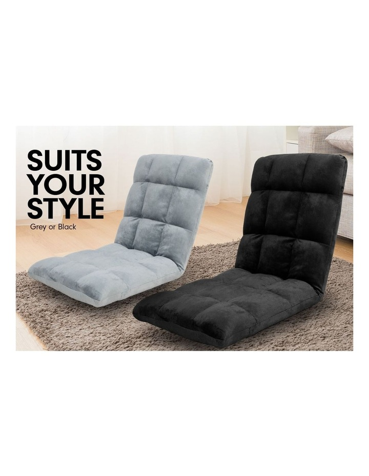 Laura Hill  Adjustable Cushioned Floor Gaming Lounge Chair 99 x 41 x 12cm - Black image 4
