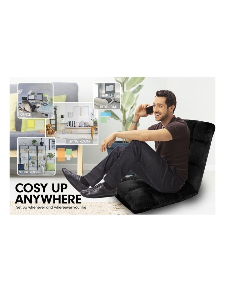 Laura Hill  Adjustable Cushioned Floor Gaming Lounge Chair 99 x 41 x 12cm - Black image 5