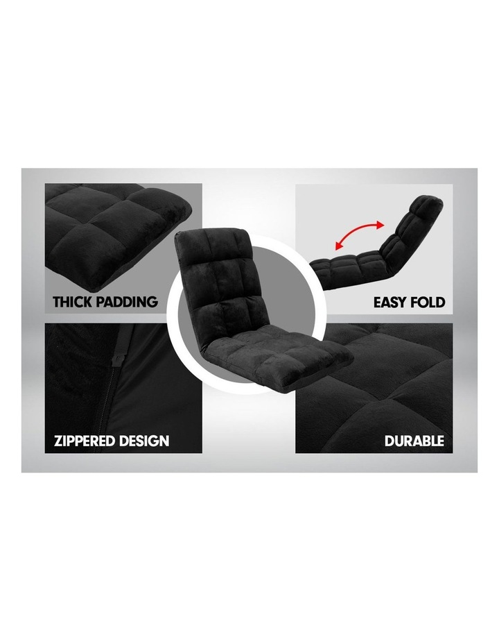 Laura Hill  Adjustable Cushioned Floor Gaming Lounge Chair 99 x 41 x 12cm - Black image 7