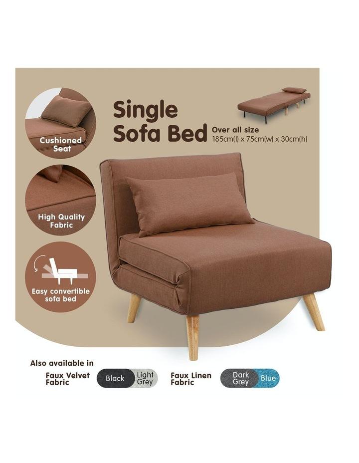 Adjustable Corner Sofa Lounge Linen Bed Seat - Brown image 2