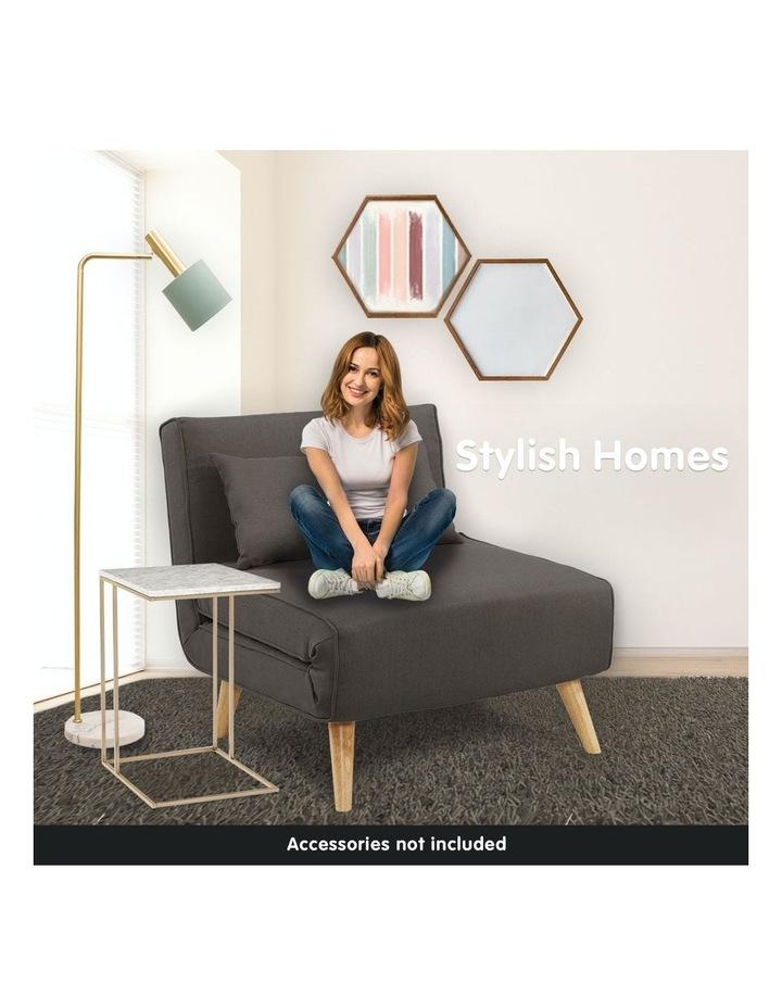 Adjustable Corner Sofa Lounge Linen Bed Seat - Brown image 3