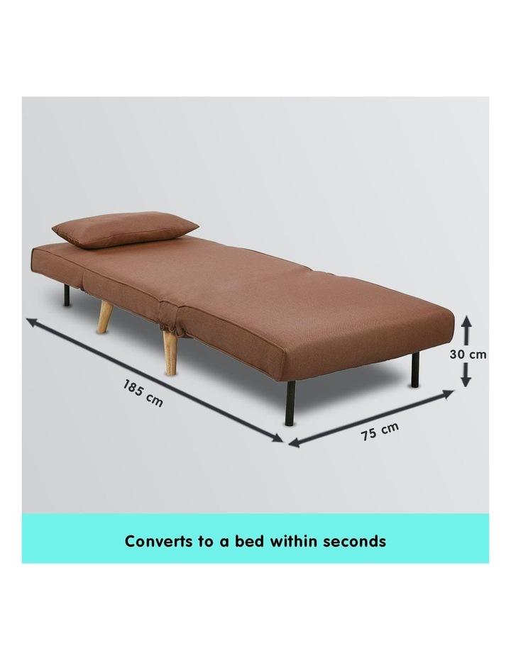 Adjustable Corner Sofa Lounge Linen Bed Seat - Brown image 6
