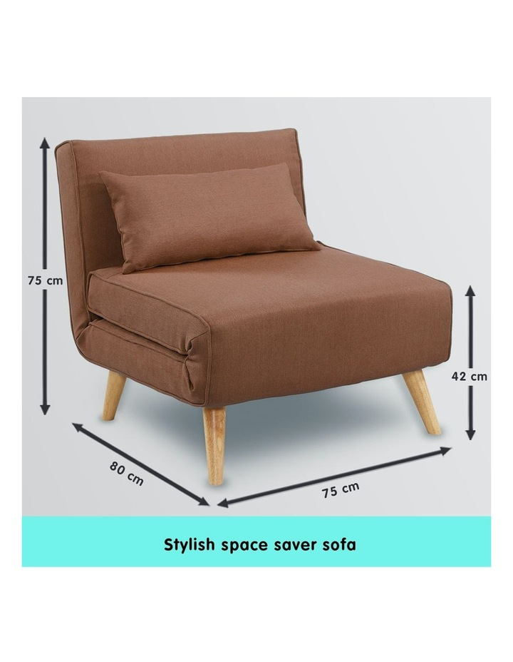 Adjustable Corner Sofa Lounge Linen Bed Seat - Brown image 7