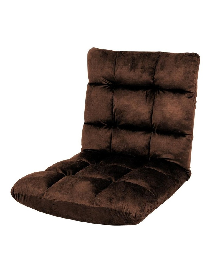 Sarantino Adjustable Cushioned Floor Gaming Lounge Chair 100 x 50 x 12cm - Brown image 1