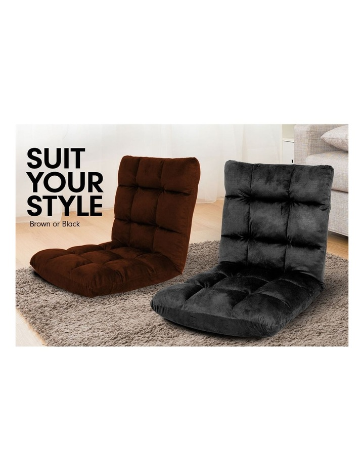Sarantino Adjustable Cushioned Floor Gaming Lounge Chair 100 x 50 x 12cm - Brown image 4