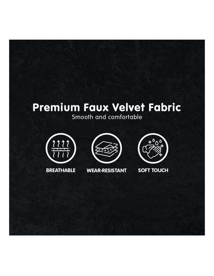 Adjustable Corner Sofa Bed Lounge Faux Velvet - Black image 6