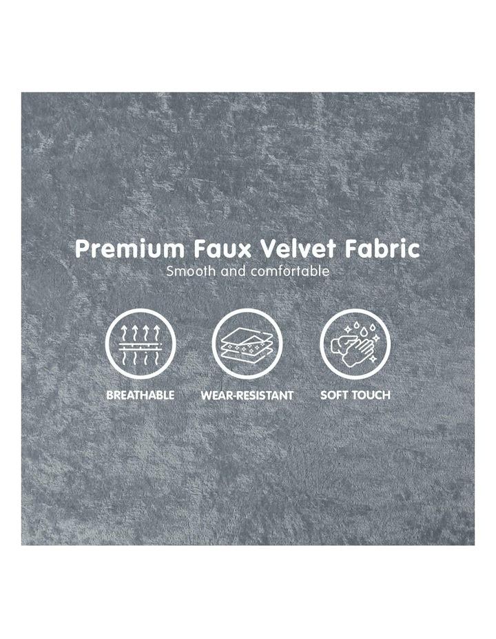 Adjustable Corner Sofa Bed Lounge Faux Velvet Light Grey image 6