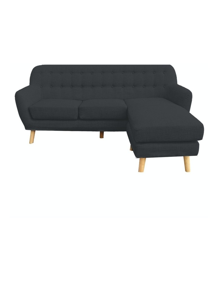 Linen Corner Sofa Couch Lounge L-shaped with Chaise - Dark Grey image 1