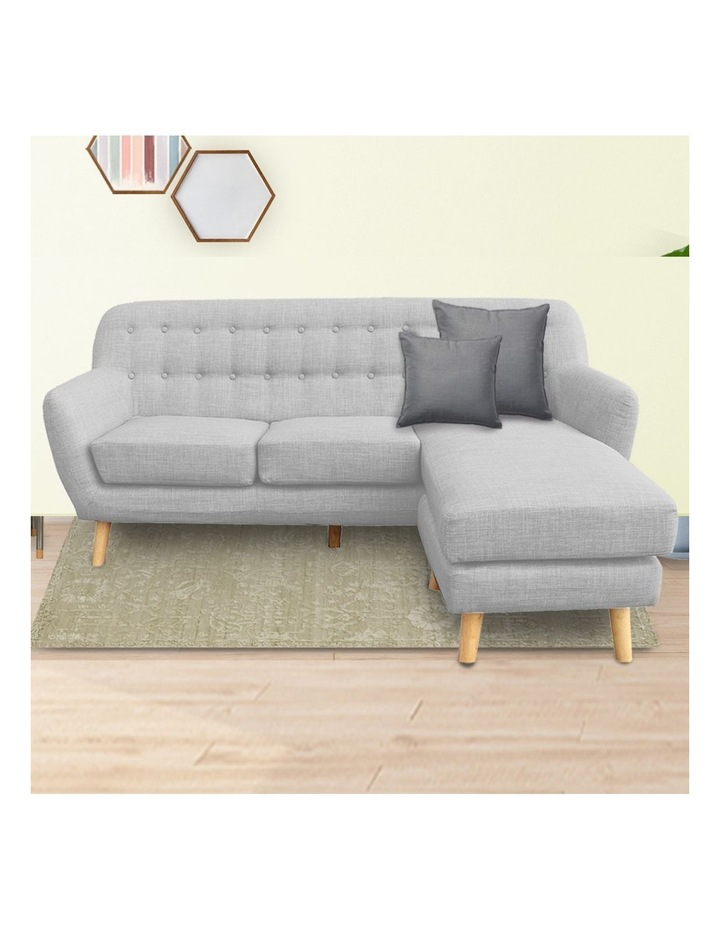 Linen Corner Sofa Couch Lounge L-shaped with Left Chaise - Light Grey image 2